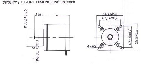 混合式步进电动机(57byg)