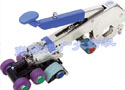 QYJ142-PVJ-S1皮圈钳口可调、带手柄压力调整功能的超高精度大掀角(紧密纺)气动摇架(第四代傻瓜机)