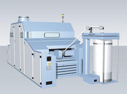 fa228型高产梳棉机把清梳用梳棉机的 原理及结构优点应用于成卷梳棉